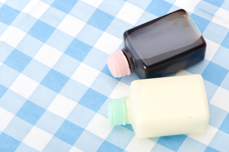 Small plastic bottle Soy sauce and Mayonnaise