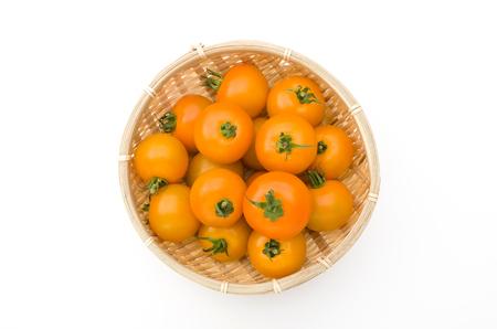 Mini yellow cherry tomato Stock Photo