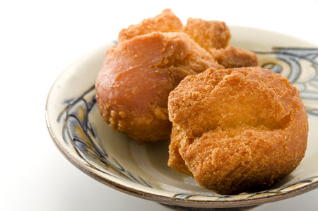 Okinawa Sata Andagi doughnut balls Stock Photo