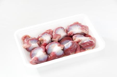 Raw Chicken gizzards
