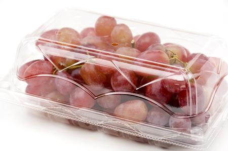 Red Grape, Crimson Seedless Grapes Stock Photo
