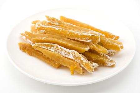 dried sweet potato satsuma sweet potato steamed, sliced and dried