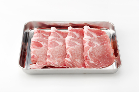 pork boston butt thinly sliced Stock Photo