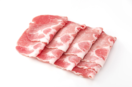 pork boston butt thinly sliced Stock Photo