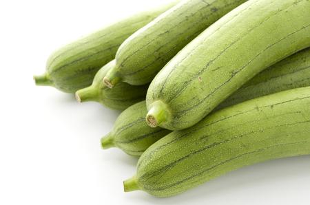 fresh green loofah or luffa
