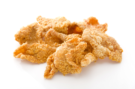 Crispy Fried Chicken Skins Standard-Bild