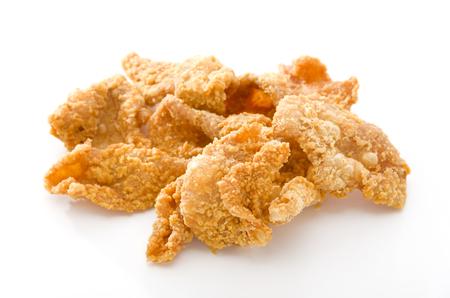 Crispy Fried Chicken Skins Archivio Fotografico