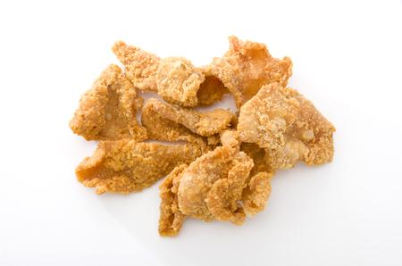 Crispy Fried Chicken Skins 版權商用圖片