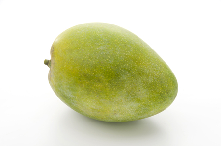 Fresh keats mango on a white background Banco de Imagens - 84195083