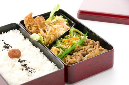 日本弁当、ゴヤ焼肉弁当 写真素材