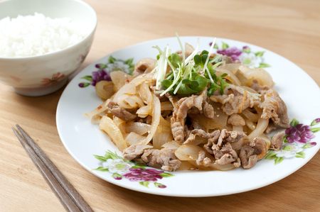 Japanese food, Stir-fried pork and onions