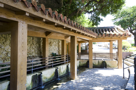 Ukkaga kin, also known as the  fountain of longevity,  One of Okinawas most important spring water sources,