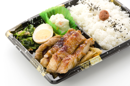 Japanese box lunch, Teriyaki Chicken Bento Stockfoto