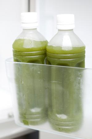 aojiru, A green juice PET bottles in the refrigerator