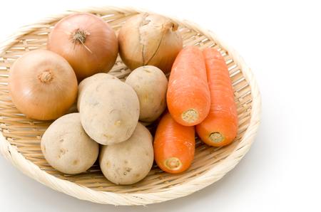 Vegetables (cut kabocha squash, carrot, onion, potatoes)
