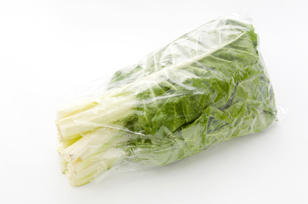 Green Swiss chard isolated on a white background