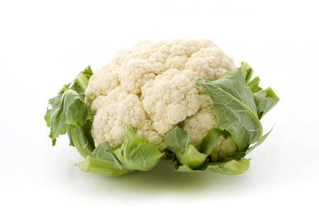 Fresh cauliflower isolated on white background Stock fotó