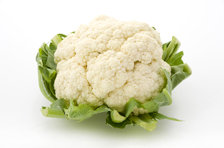 Fresh cauliflower isolated on white background Stock Photo
