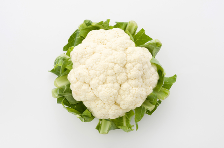 Fresh cauliflower isolated on white background Standard-Bild