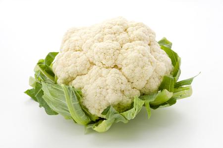 Fresh cauliflower isolated on white background Stockfoto