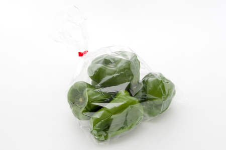 ell pepper in plastic bag Stock Photo