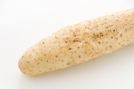 Chinese yam on white background