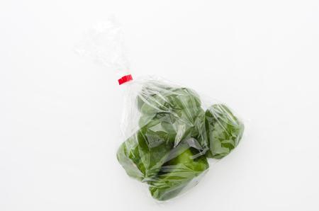 bell pepper in plastic bag