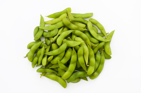 Edamame-Japanese food, boiled green soybeans background 版權商用圖片