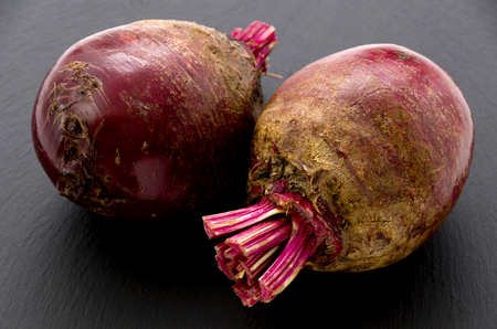 Red beet or beetroot on stone plate. Reklamní fotografie - 102303096