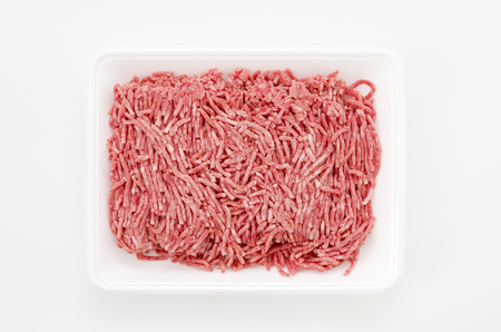 minced meat, beef and pork mixed ground meat background 版權商用圖片 - 111030570