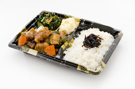 Japanese lunch box, Sweet and sour pork lunch, bento Subuta