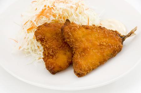 Deep-fried horse mackerel. Фото со стока