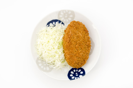 Beef croquette on a plate