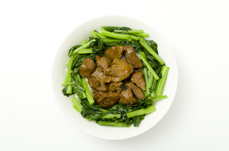 Japanese food, Toriliveramakaradon, Chicken liver Seasoneted with soy sauce and suger.