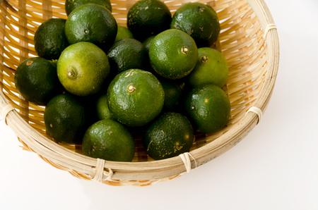 Hirami lemon, Flat lemon, Citrus depressa, Thin-skinned flat lemon in sieve