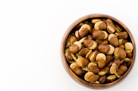 "Japanese snacks ""Ikari beans"" is a Fava bean fried dried in oil."