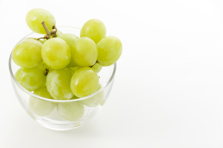 green Seedless Grapes in Glass bowl