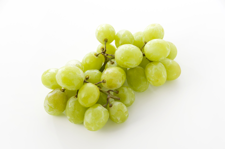 bunch of green Seedless Grapes. Stock Photo