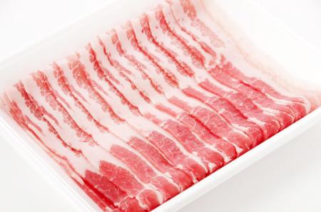 sliced fresh meat, Pork belly