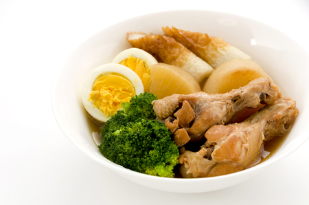 simmered chicken with daikon 写真素材