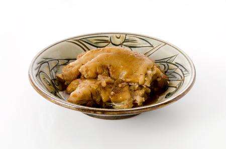 Japanese food, Tebichi Okinawa cuisine, delicious stewed pigs feet.
