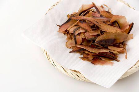 Katsuobushi, dried bonito flakes, Japanese food, make Japanese soup stock