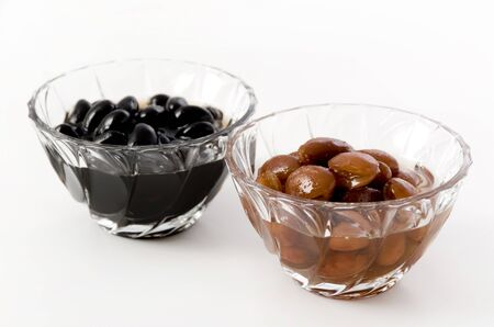 boiled Red kidney beans and boiled black beans
