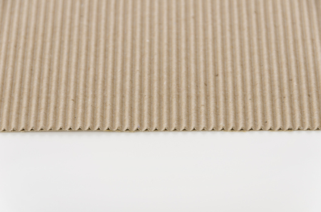 Cartón corrugado de papel marrón Foto de archivo
