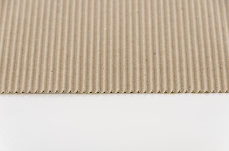 Carton ondulé en papier brun Banque d'images