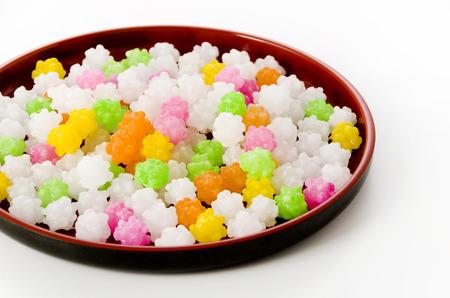 Colorful Konpeitou japanese traditional sugar candy