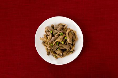 Japanese Food Okinawa cuisine Buta nakami iricha motsu Pig internal organ stir fried 版權商用圖片
