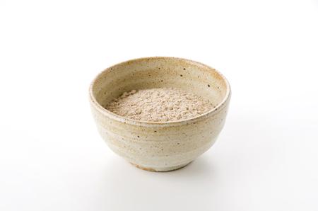 Japanese food, Hattaiko or Mugi Kogashi (flour of roasted barley), parched barley flour.background
