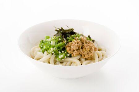 Japanese food, Hiyashi udon with sushi