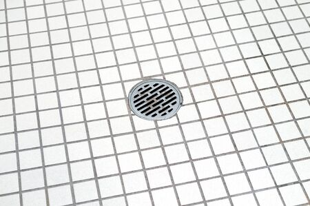 bathroom floor and bathroom drain 版權商用圖片